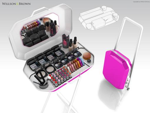 Obrázek z Multifunkční make-up stojan/kufřík