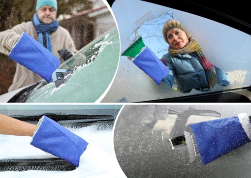 Obrázek z Autoškrabka s teplou rukavicí