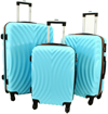 Obrázek z Cestovní kufry 3 ks ABS + Carbon na 4 kolečkách - 760