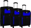 Obrázek z Látkové cestovní kufry sada 3 ks na 4 kolečkách - s10