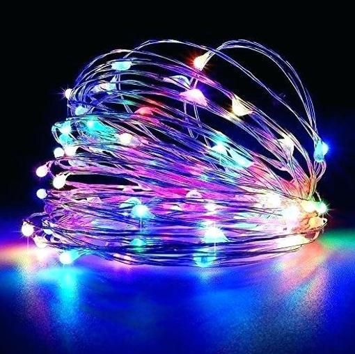 Obrázek z Dekorativní nano řetěz na baterie 100 LED/10 m