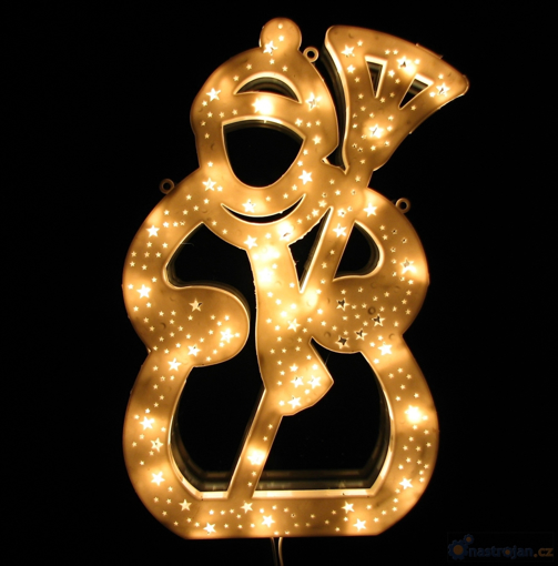 Obrázek z Vánoční osvětlení LED dekorace - sněhulák malý