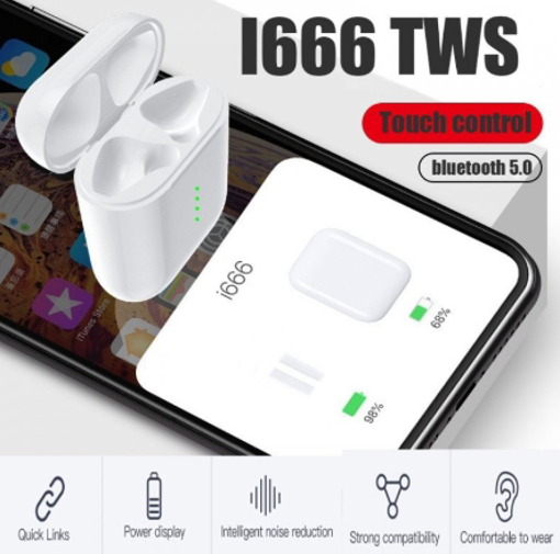 Obrázek z Bezdrôtové bluetooth slúchadlá i666 TWS 5.0