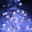 Obrázek z Dekorativní nano řetěz na baterie 40 LED/4 m - sněhulák