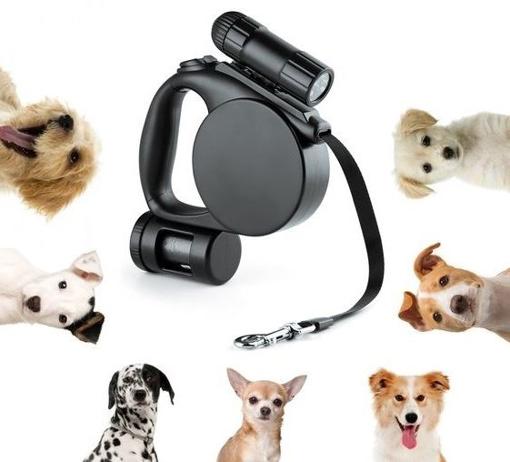 Obrázek z Svítící vodítko s 20 pytlíky na psí exkrementy