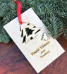 Obrázek z Dřevěné vánoční přání s ozdobou na stromeček