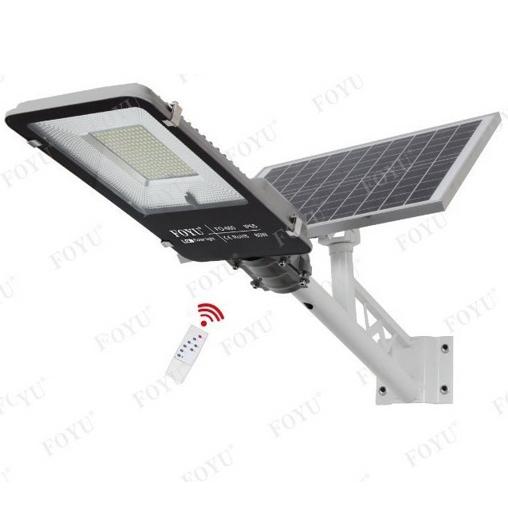 Obrázek z Solární pouliční LED lampa na dálkové ovládání 100w FOYU FO-16100