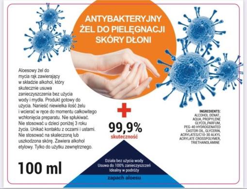 Obrázek z Antibakteriální gel na ruce 100 ml