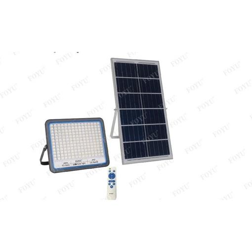 Obrázek z Solární LED reflektor s dálkovým ovládáním - studená bílá + barevný mód 300W
