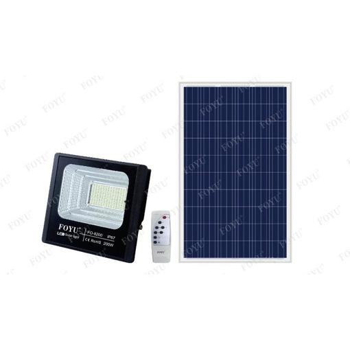 Obrázek z Reflektor s venkovním solárním panelem IP67 s dálkovým ovládáním a časovačem 200w