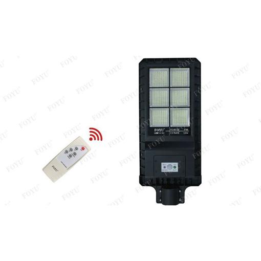 Obrázek z Solární LED lampa na dálkové ovládání studená bíla 120w