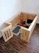 Obrázek z Dřevěná ohrádka pro pejska, Nastrojan Masiv 150x100x60cm