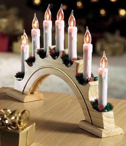 Obrázek z Vánoční osvětlení svícen - hořící dekorace za okno 5 ks