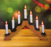 Obrázek z Vánoční osvětlení svícen - hořící dekorace za okno 7 ks střecha