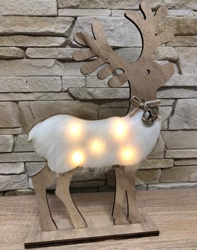 Obrázek z Dřevěná svítící LED dekorace 30 cm