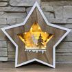 Obrázek z LED světelná dřevěná dekorace - hvězda