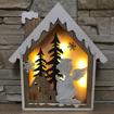 Obrázek z LED světelná dřevěná dekorace - domeček