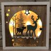 Obrázek z Dřevěná svítící LED dekorace Merry Christmas