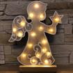 Obrázek z Dřevěná svítící LED dekorace 33 cm