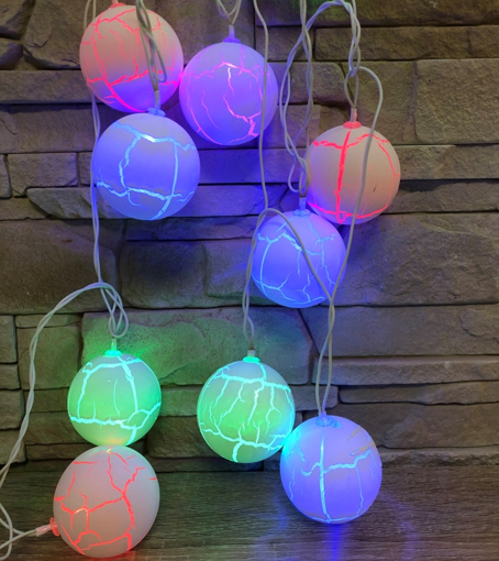 Obrázek z Světelná LED dekorace koule 10ks/4m