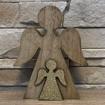 Obrázek z Vánoční dřevěný anděl, masiv 16x12x2 cm