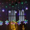 Obrázek z Led světelná záclona vločka - 138led/4,5m propojovatelná
