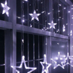 Obrázek z LED světelná záclona hvězda - 138 LED/4,5 m propojovatelná