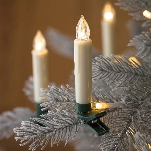 Obrázek z Vánoční svíčky na stromeček, venkovní 10 ks