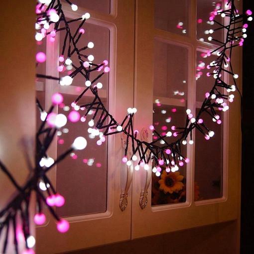 Obrázek z LED vánoční řetěz - girlanda ježek, venkovní 300led/11m s programy