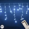 Obrázek z Vánoční osvětlení venkovní, světelné LED krápníky 500 ks/15 m s časovačem a dálkovým ovládáním
