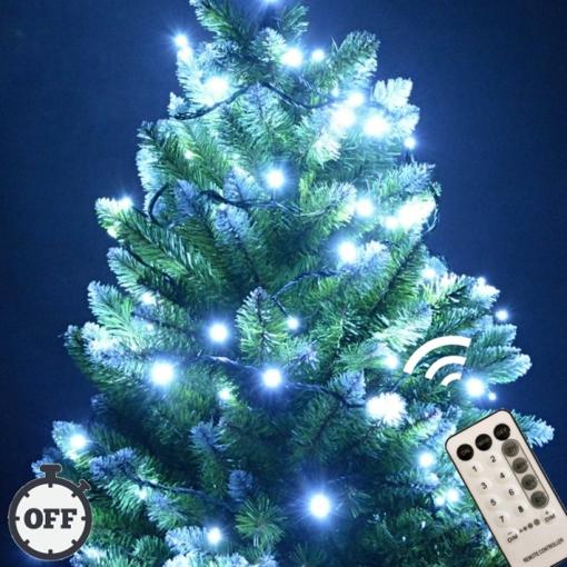 Obrázek z Vánoční LED osvětlení, světelný řetěz, venkovní 210 ks/26 m s časovačem a dálkovým ovládáním