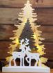 Obrázek z Dřevěná svítící LED dekorace 45 cm s časovačem