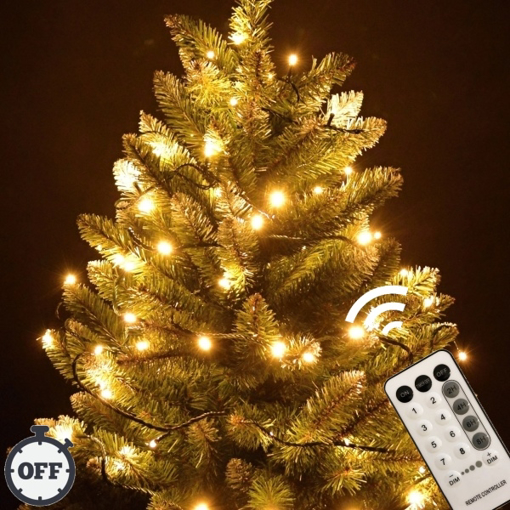 Obrázek z Vánoční LED osvětlení, světelný řetěz, venkovní 1000 ks/105 m s časovačem a dálkovým ovládáním