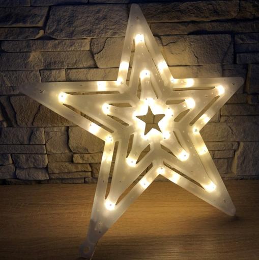 Obrázek z Vánoční LED osvětlení hvězda - dekorace na okno, dveře, výlohu