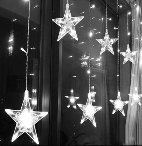 Obrázek z LED světelná záclona hvězda - 112 LED/4,5 m propojovatelná