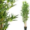 Obrázek z Umělý strom na kmeni přírodního bambusu - 200cm