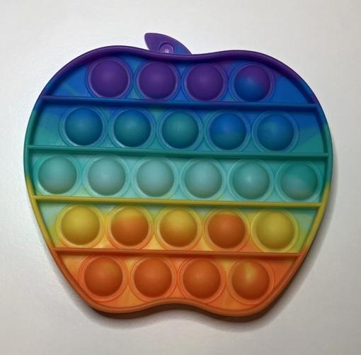 Obrázek z Pop it antistresová hračka - jablko