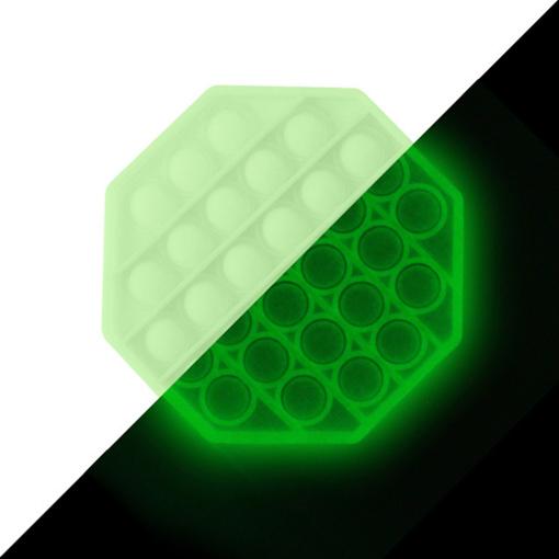 Obrázek z Pop it antistresová hra - šestiúhelník svítící ve tmě