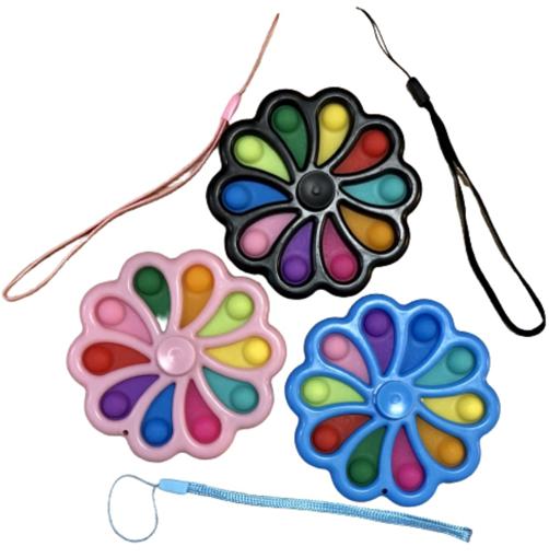Obrázek z Pop It antistresová hračka fidget spinner malý