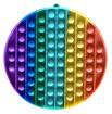 Obrázek z Pop It Rainbow JUMBO - antistresová hračka kolo