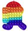 Obrázek z Pop It Rainbow JUMBO - antistresová hračka Among Us 2