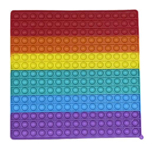 Obrázek z Pop It Rainbow MEGA JUMBO 30 cm - antistresová hračka čtverec