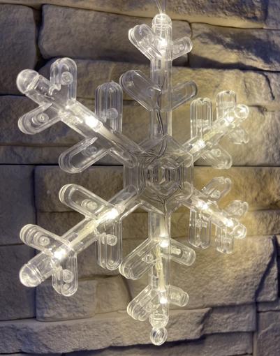 Obrázek z Vánoční LED dekorace s přísavkou - vločka