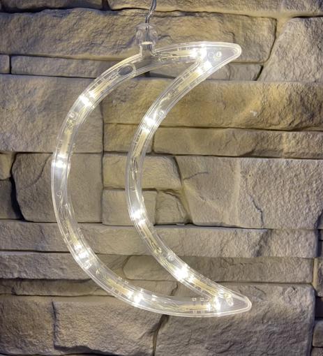 Obrázek z Vánoční LED dekorace s přísavkou - měsíc