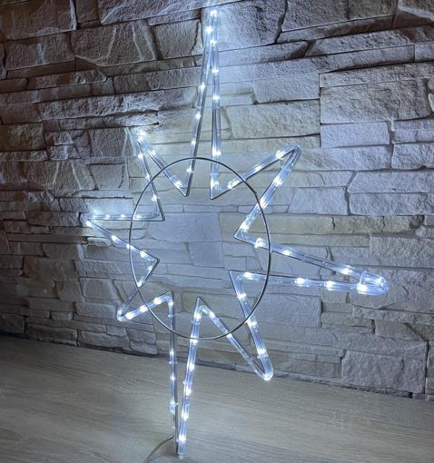Obrázek z Venkovní Vánoční LED osvětlení hvězda s flash - 70cm