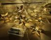 Obrázek z Dřevěný vyřezávaný světelný řetěz na baterie 10 ks