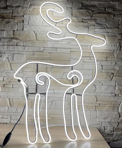 Obrázek z Neonová Venkovní Vánoční LED dekorace sob - 90cm
